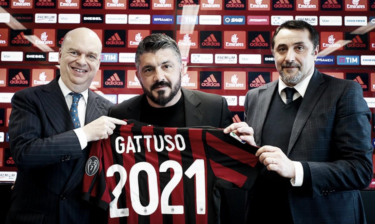 Gattuso supera expectativas no Milan e renova contrato até 2021