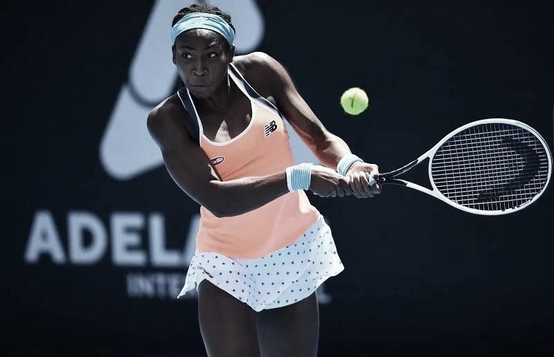 Gauff vira jogo contra Rogers e vai à semifinal do WTA 500 de Adelaide