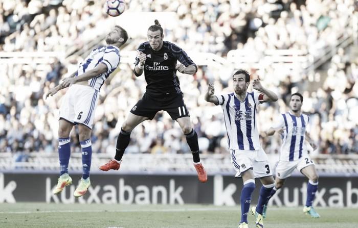 Liga, il Real Madrid vola con Bale e Marco Asensio all'Anoeta contro la Real Sociedad (0-3)