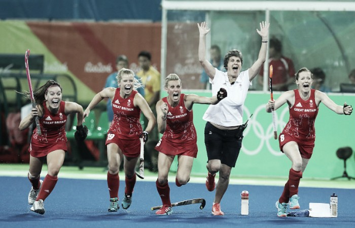 Rio 2016: GB win thrilling penalty shoot-out to become Olympic Hockey Champions