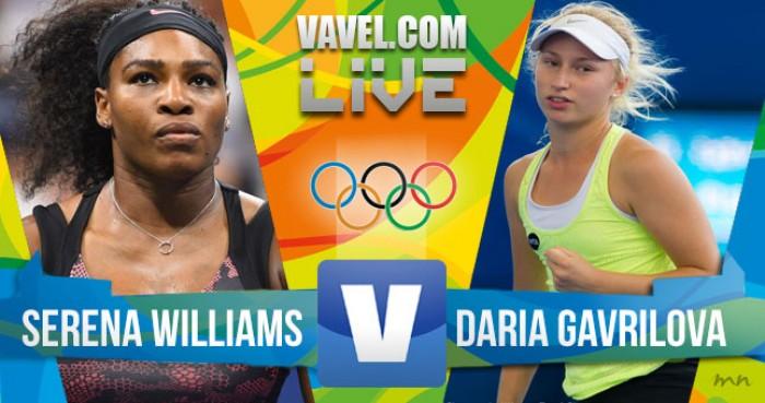 Resultado: Serena Williams x Daria Gavrilova no tênis feminino dos Jogos Olímpicos (2x0)