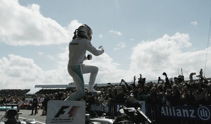 British Grand Prix: Hamilton wins as Rosberg penalised
