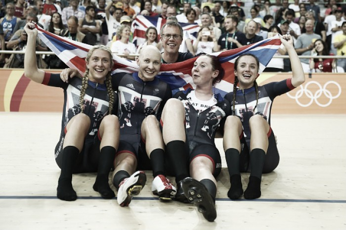 Rio 2016: Women's Team Pursuit defend Olympic crown for GB as Becky James wins Keirin silver