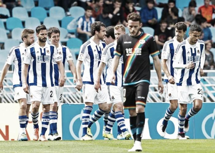 Real Sociedad vence Rayo Vallecano e complica rival na luta contra rebaixamento