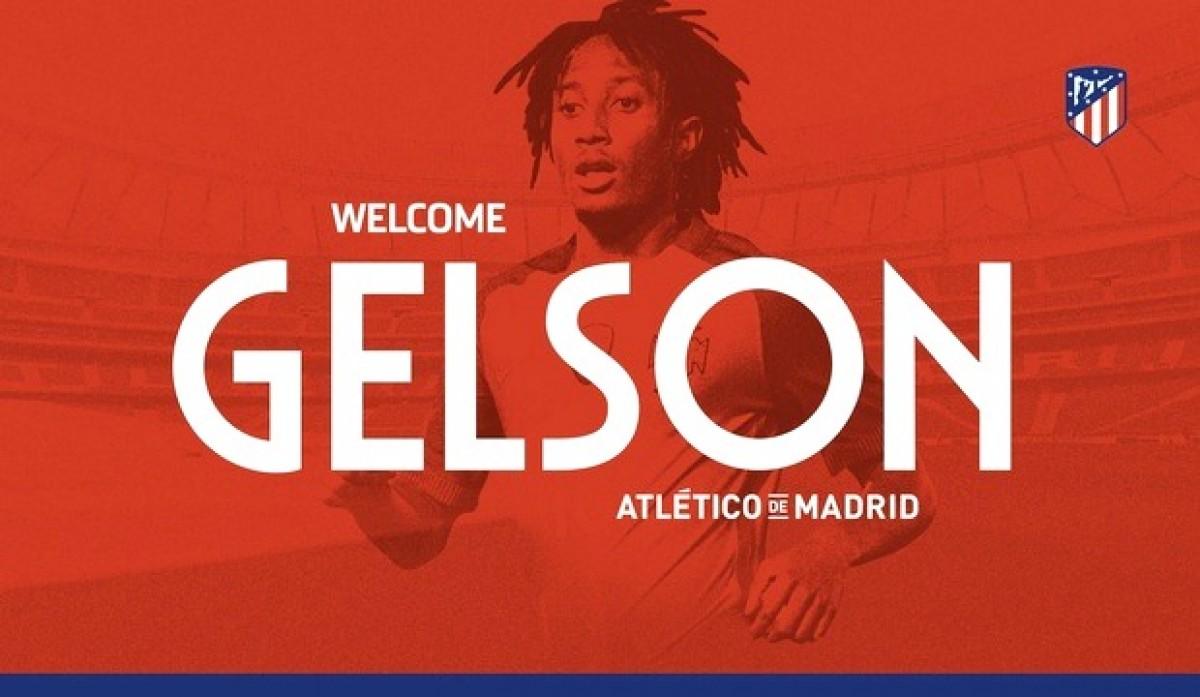 Atlético de Madrid oficializa contratação do atacante português Gelson Martins