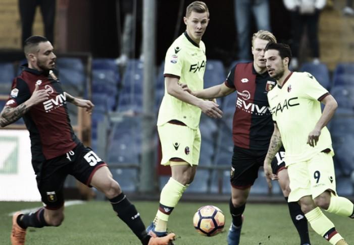 Genoa e Bologna si dividono la posta, i commenti di Mandorlini e Donadoni
