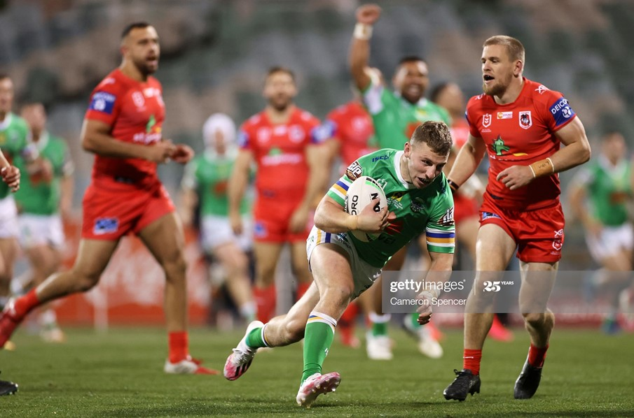 Canberra Raiders 22-16 St George Illawarra Dragons: Williams off the mark as Raiders return to form