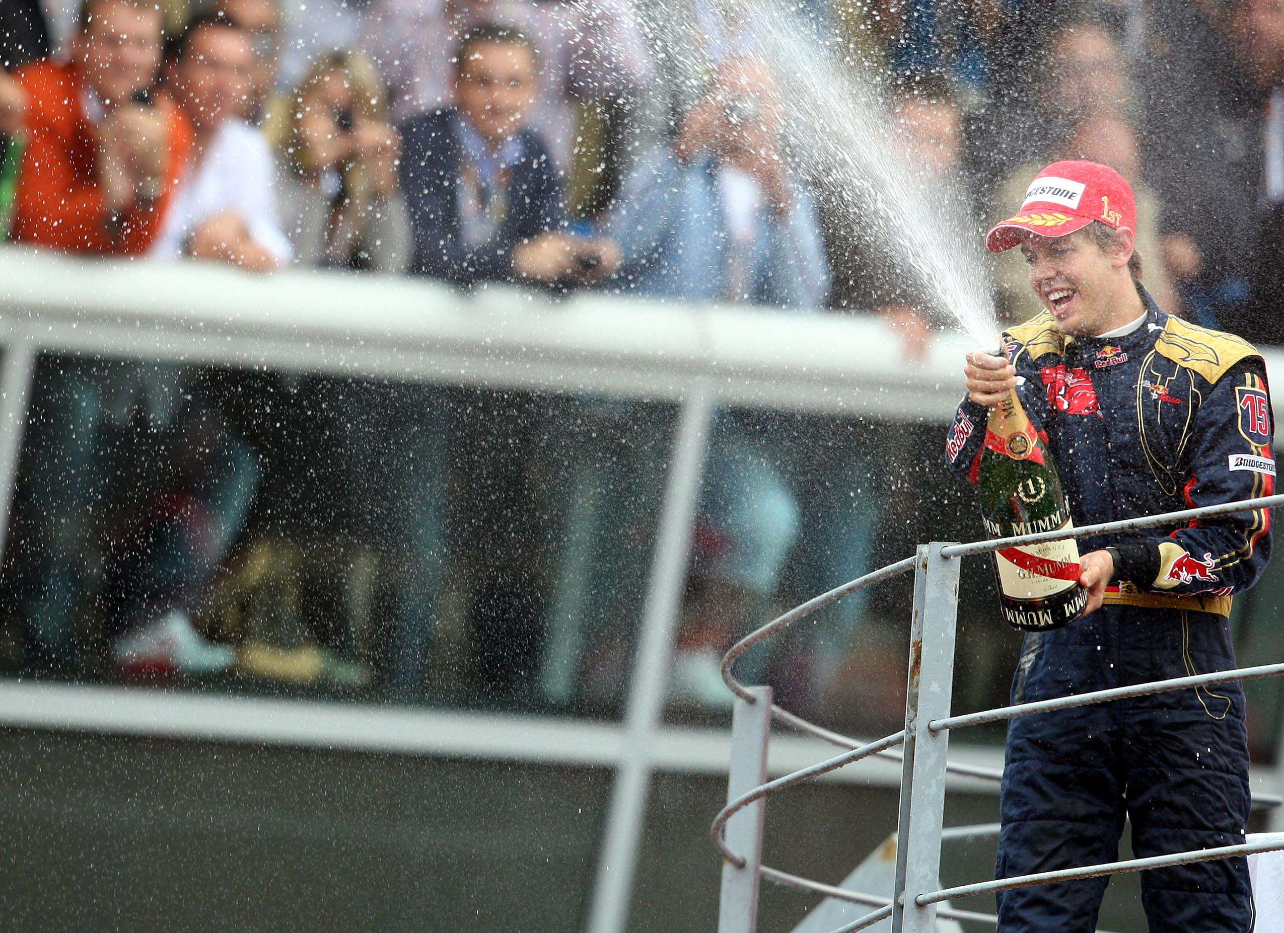 El agua que bautizó a Vettel en la Fórmula 1