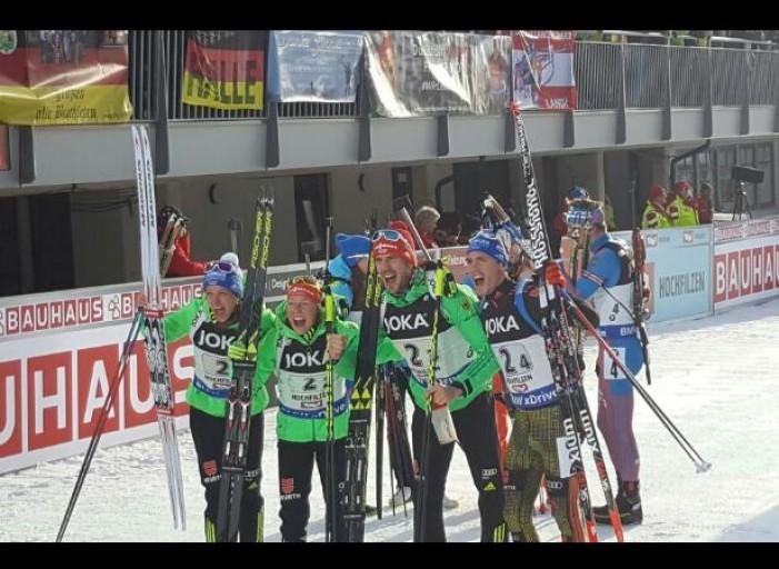 Biathlon, Hochfilzen 2017: la Germania è d'oro, l'Italia sfiora il podio