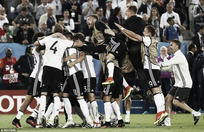 Germany (6) 1-1 (5) Italy: Hector penalty sends Germany into the last four