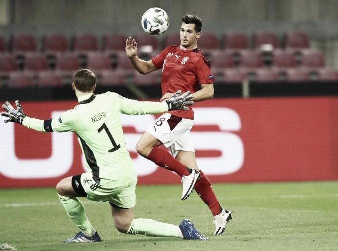 O belo gol de Remo Freuler (Foto: Reprodução /UEFA Nations League)