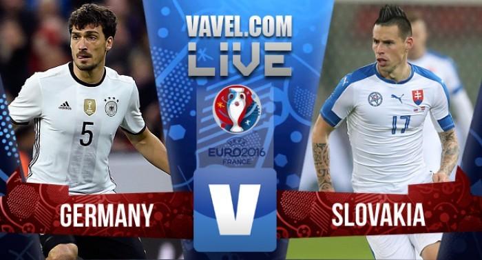Terminata Germania - Slovacchia, Ottavi di finale Euro 2016  (3-0): Boateng, Gomez e Draxler
