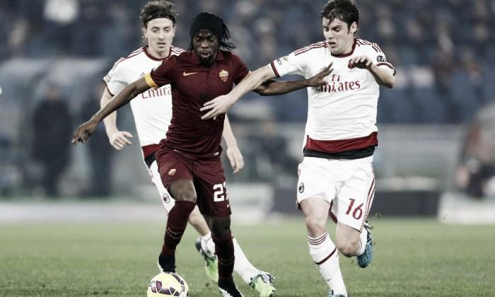 Live Roma - Milan in Serie A 2015/16 (1-1,Rudiger, Kucka)