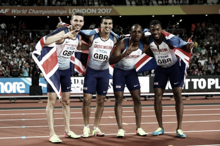 World Athletics Championships: Great Britain take shock men's 4x100m gold