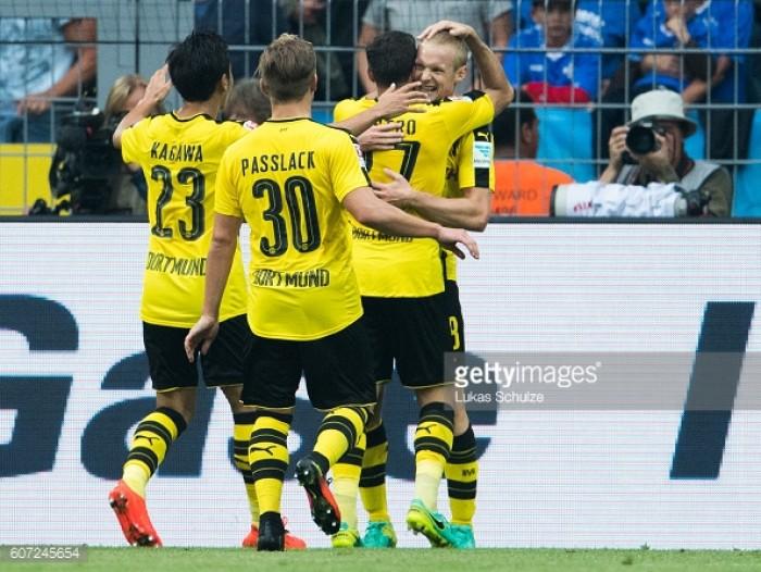 Borussia Dortmund 6-0 SV Darmstadt 98: BVB batter 10-man Darmstadt