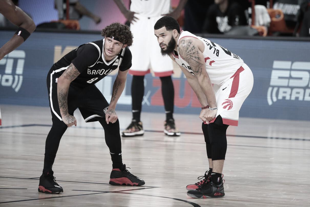 Raptors administram boa vantagem do primeiro tempo e abrem série com vitória sobre Nets