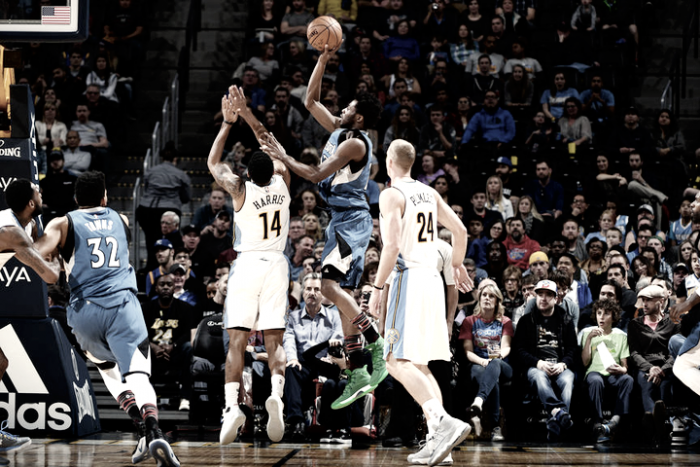 Andrew Wiggins leads MinnesotaTimberwolves to victory over Denver Nuggets, 112-99