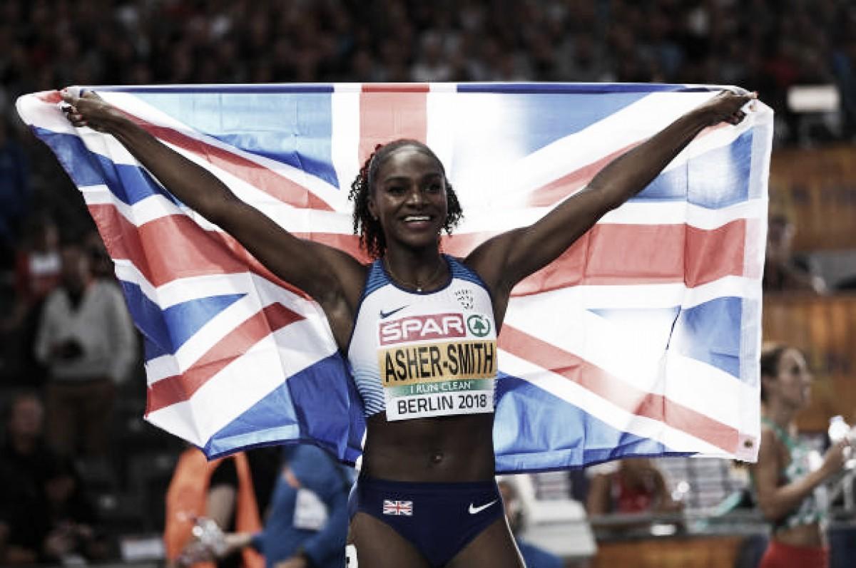 European Athletics Championships: Dina Asher-Smith secures sprint double