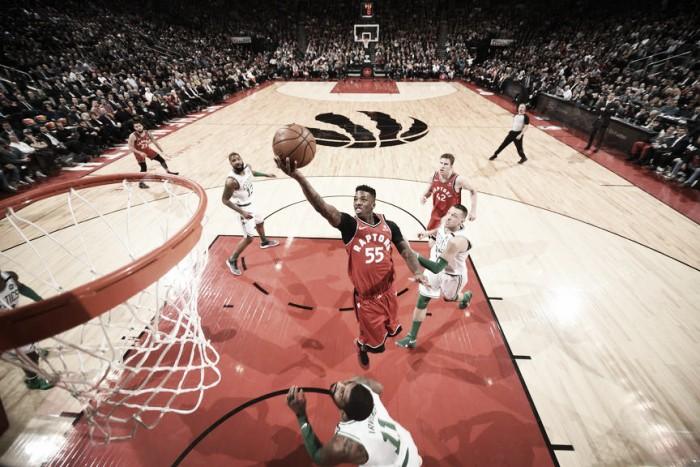 Em atuação de gala, Raptors atropelam Celtics em casa e encostam na liderança do Leste