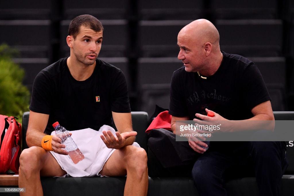 Grigor Dimitrov hires Andre Agassi as consultant