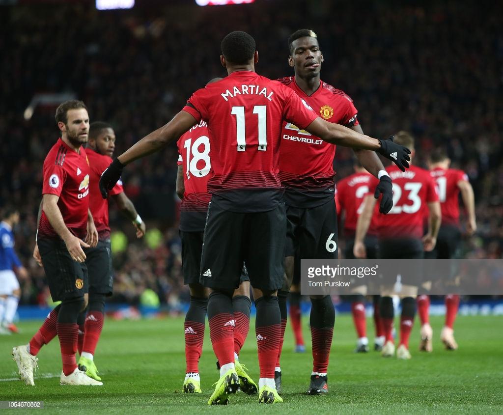 Manchester United 2-1 Everton: Pogba and Martial goals end Blues unbeaten run