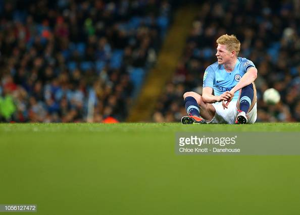 Kevin De Bruyne out for five to six weeks with knee ligament injury