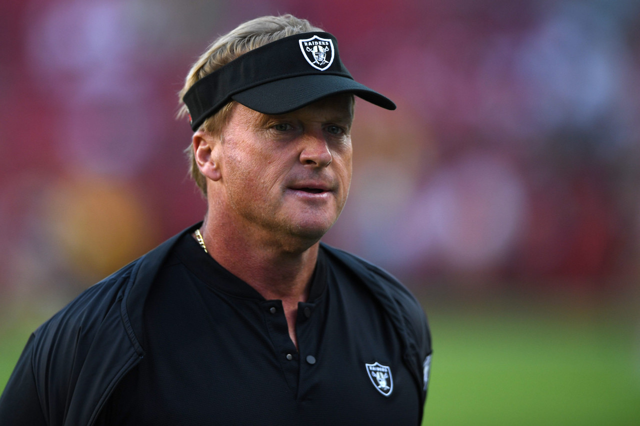 """Gruden: """"We were known for speed in years past and we're going to be known for speed going forward"""""""