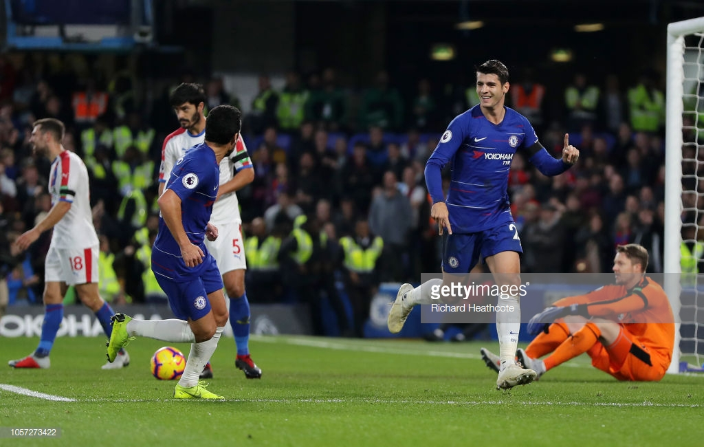Chelsea 3-1 Crystal Palace: Morata punishes Eagles defensive errors to keep Blues unbeaten record going