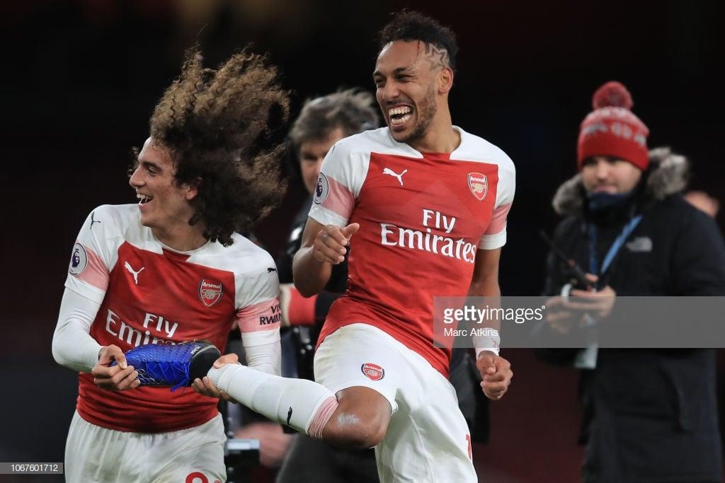 Arsenal 4-2 Tottenham: Aubameyang scores twice as Gunners win enthralling derby