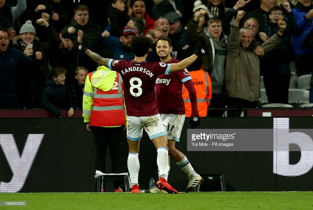 West Ham United 3-2 Crystal Palace: The Hammers get the edge over their London rivals in a five-goal thriller