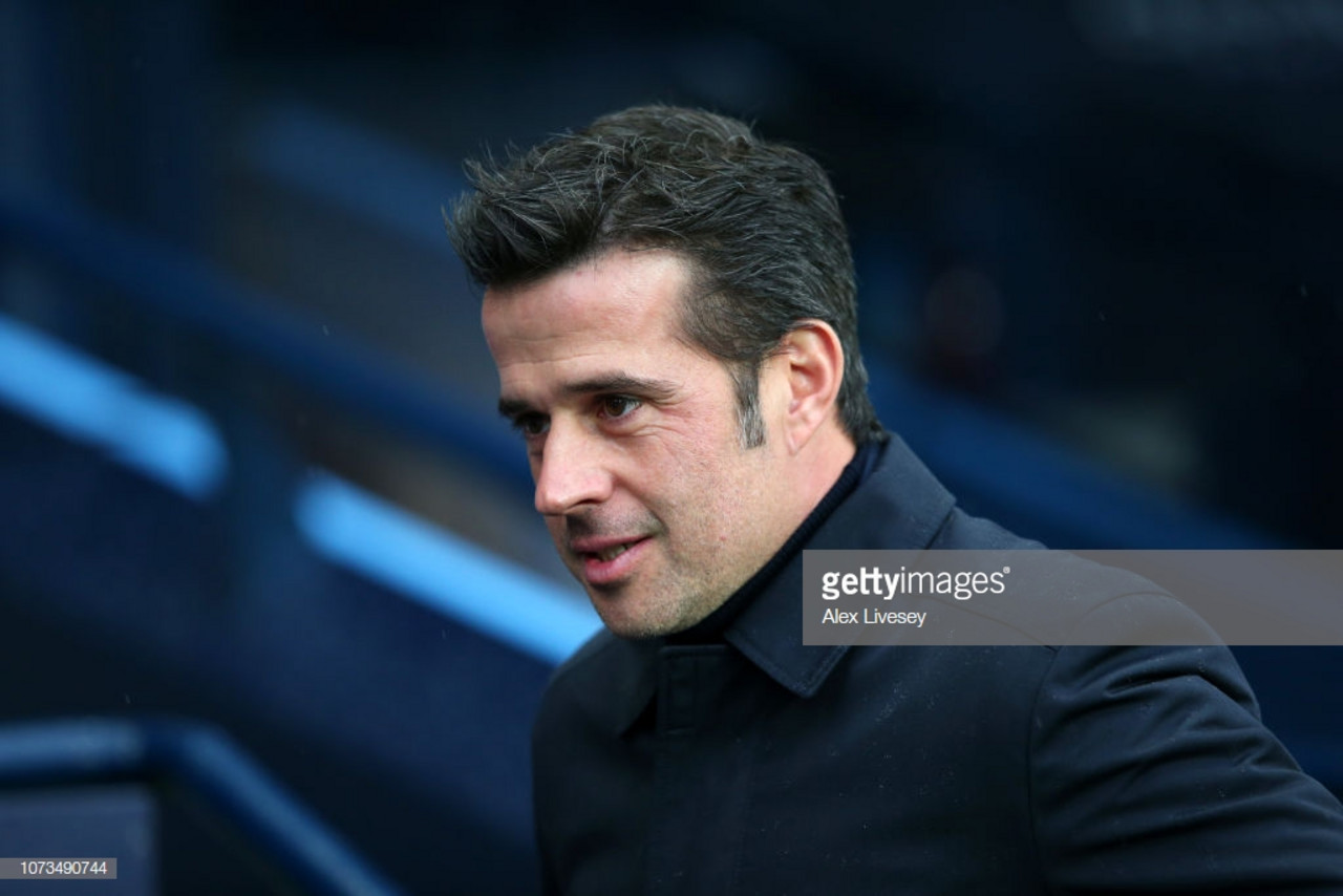 Marco Silva left to rue his side's missed chances in 3-1 defeat against Manchester City
