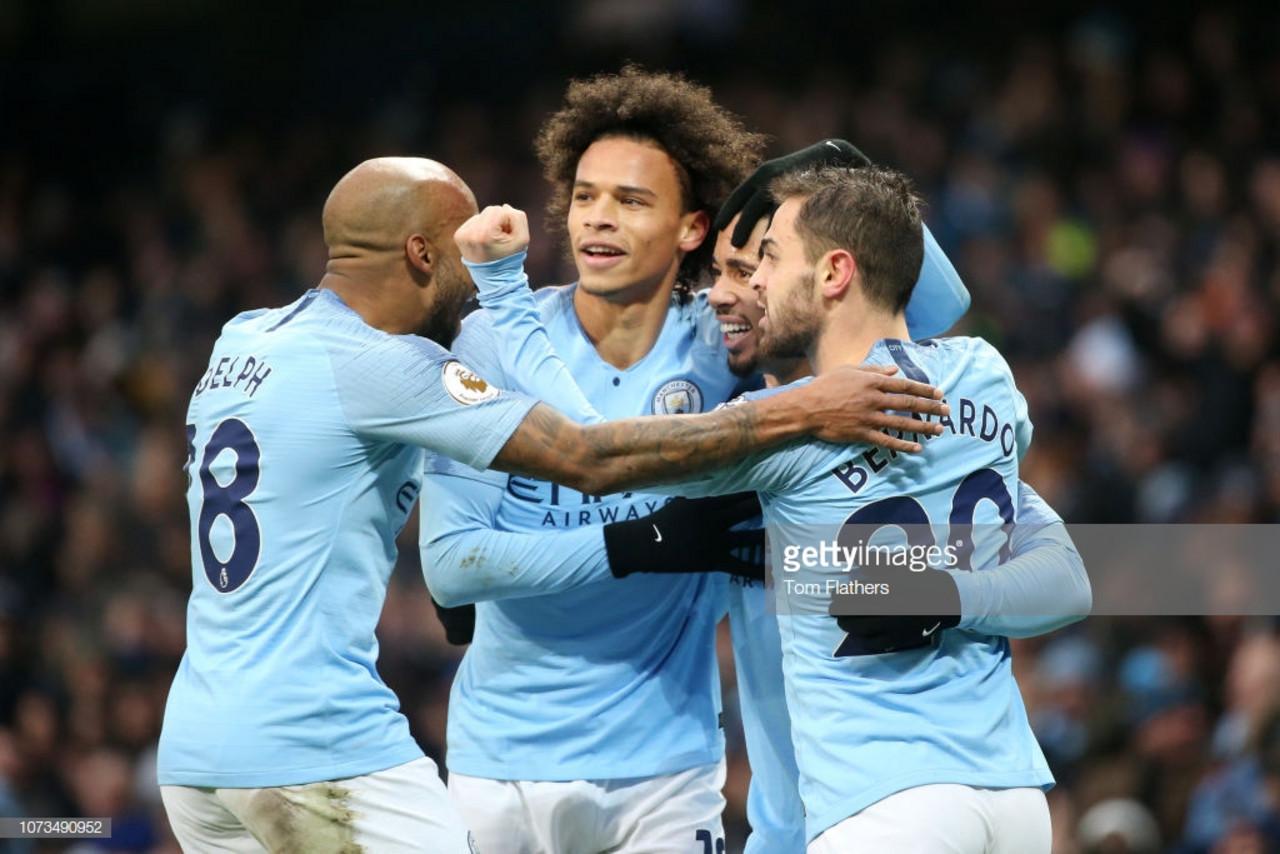 Manchester City 3-1 Everton: Jesus brace helps Citizens return to top of Premier League