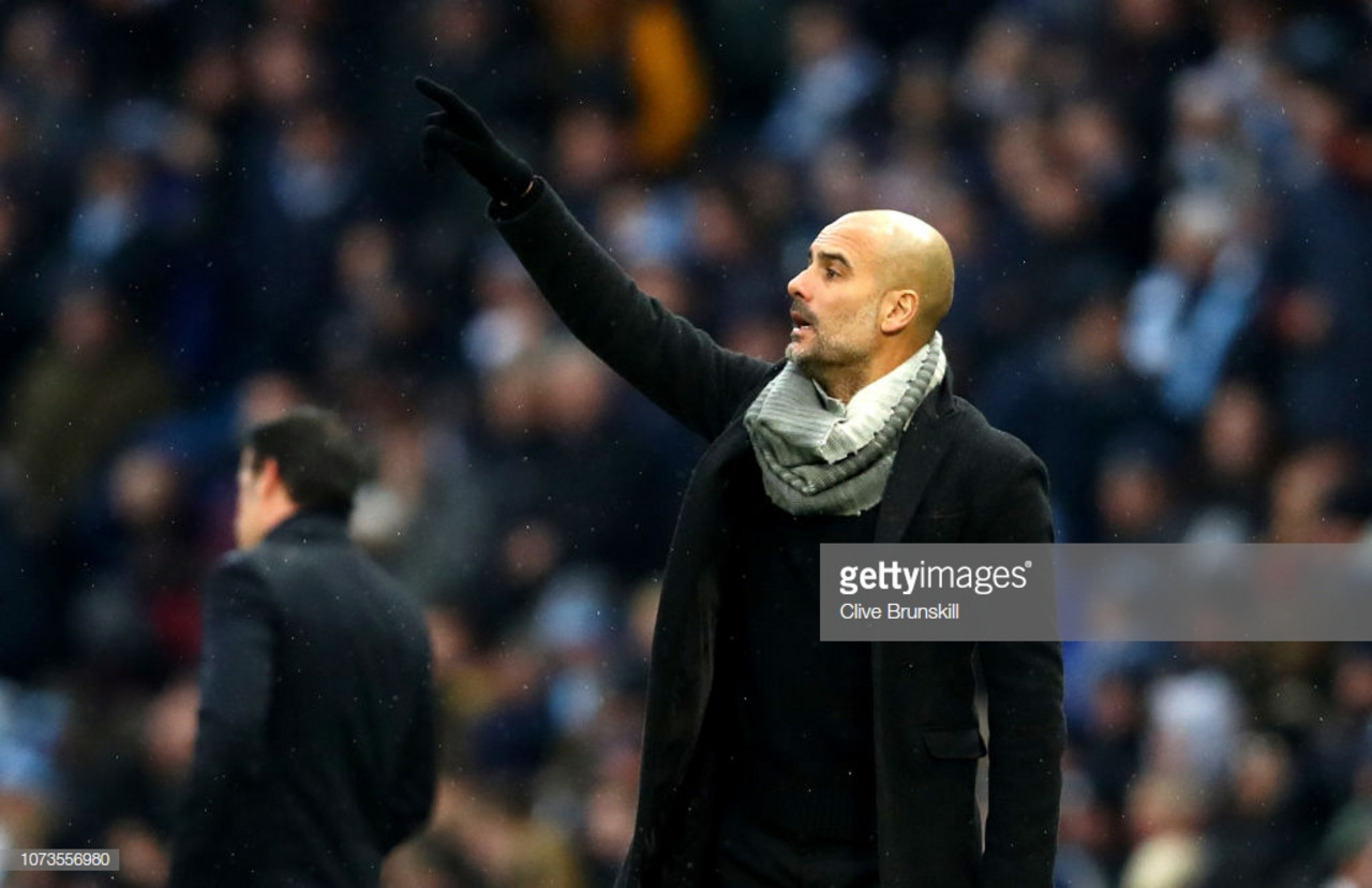 Pep Guardiola delighted with his side's performance in 3-1 win over Everton