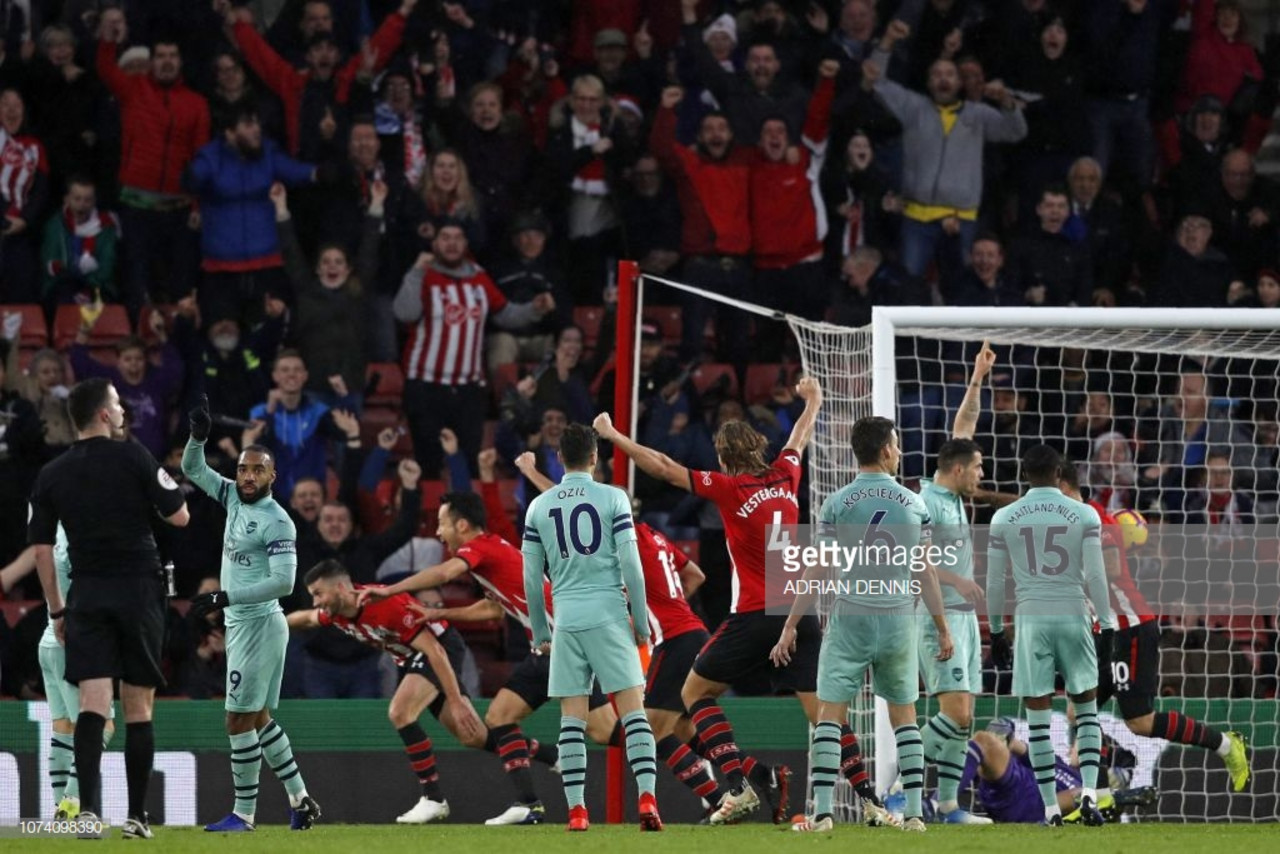 Southampton 3-2 Arsenal: Austin snatches all three points for the Saints with a last-gasp header