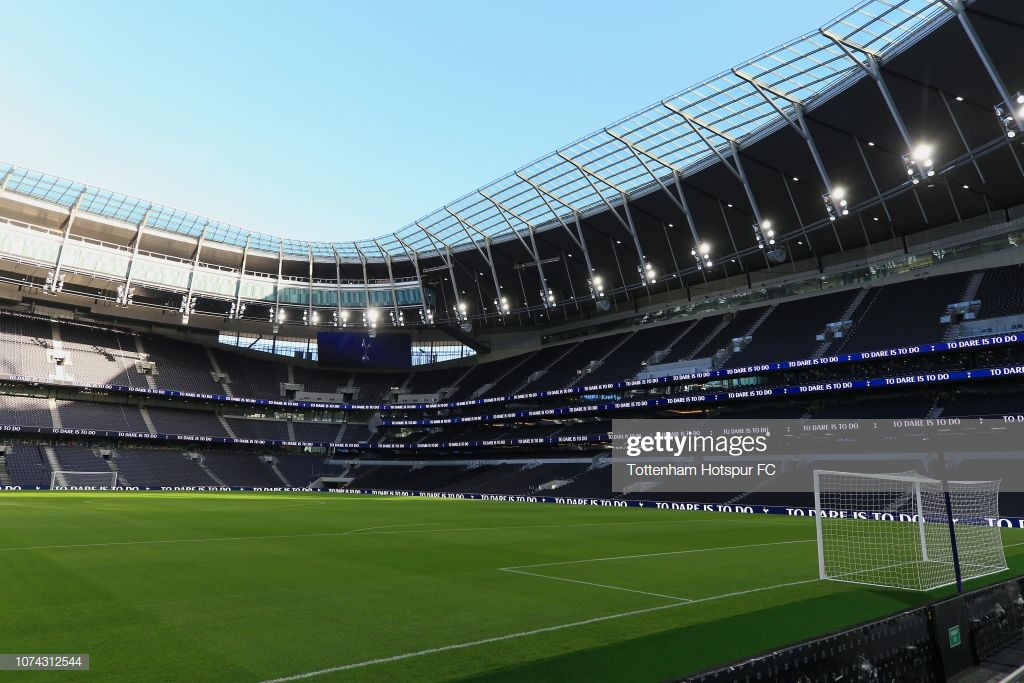 Tottenham Hotspur will move into new stadium next month