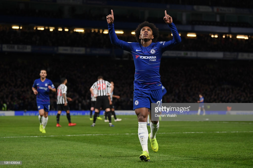 Chelsea 2-1 Newcastle United:  The Blues cruise to victory as the Magpies drop into the bottom three