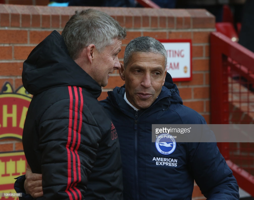 Hughton rues 'lack of quality' after narrow defeat to United