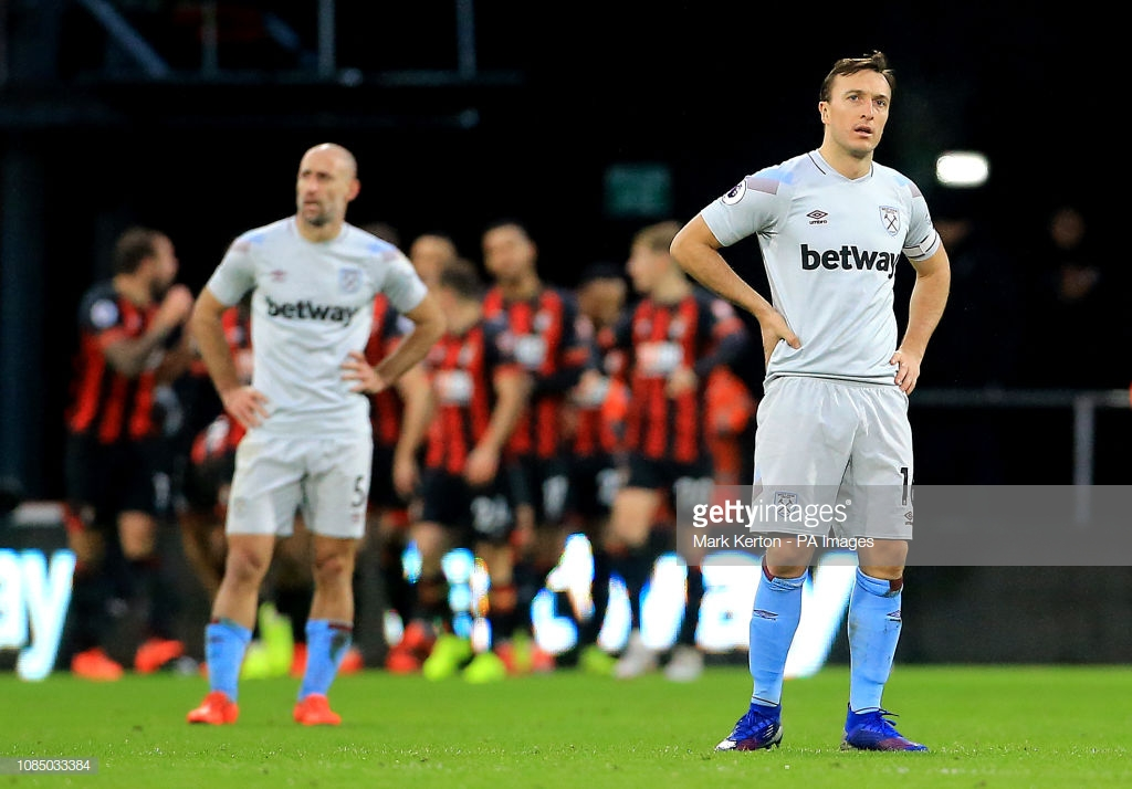 Bournemouth 2-0 West Ham: Hammers move further away from top six after disappointing performance