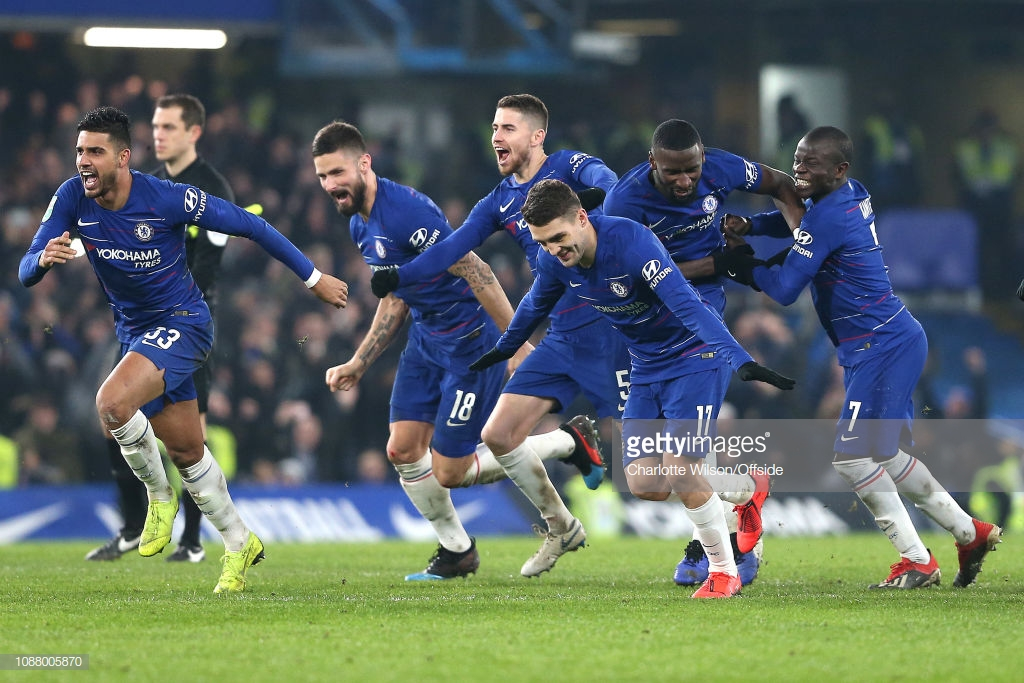 Chelsea 2-1 Tottenham Hotspur(2-2 on agg, 4-2 on pens): Blues reach Carabao Cup Final after penalties win