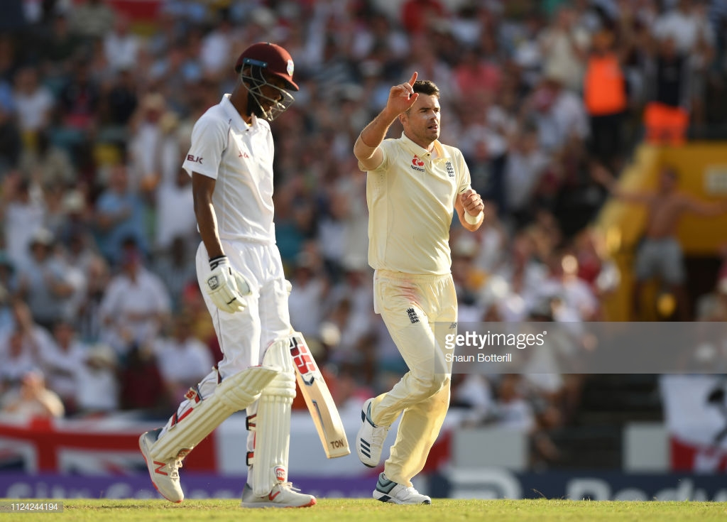 West Indies vs England - First Test, Day One: Tourists end on a high as Anderson strikes