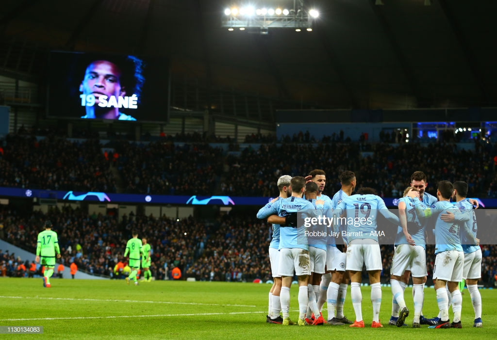 Manchester City 7 (10)-(2) 0 Schalke 04: VAR fails to steal limelight as Guardiola's phenomenal front three steer City into last eight