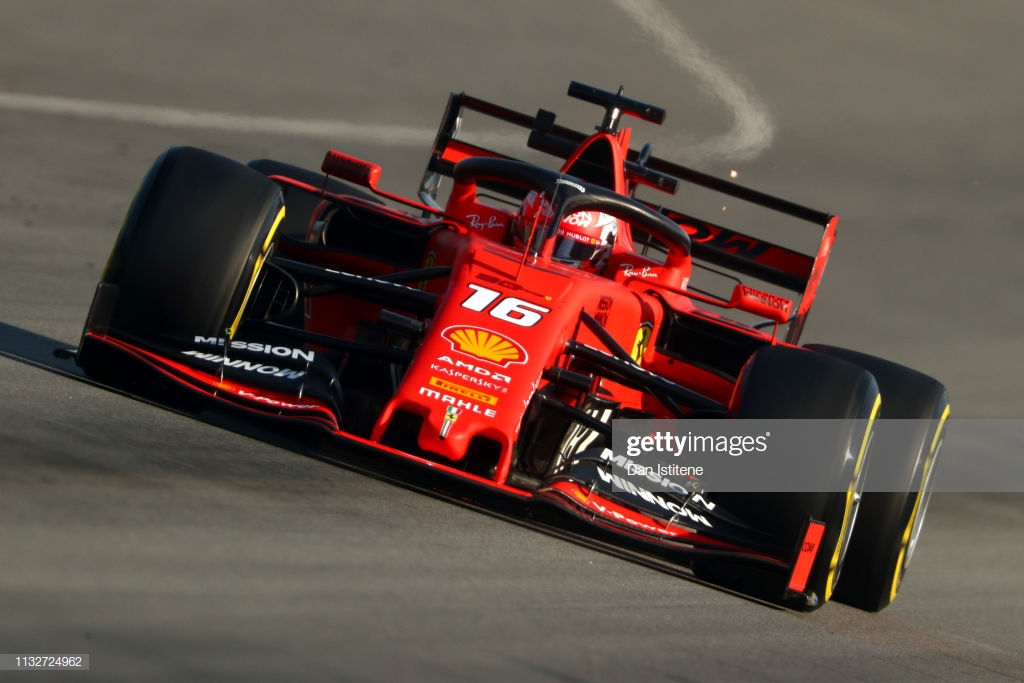 Leclerc shows Ferrari pace on penultimate day of testing