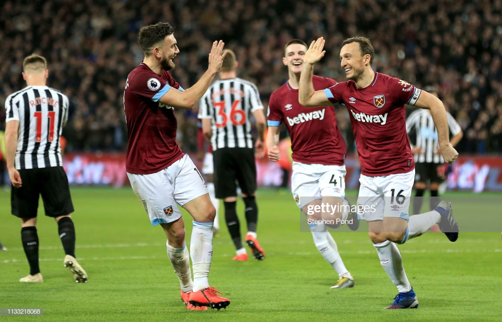 West Ham 2-0 Newcastle United: First half double seals points for Hammers