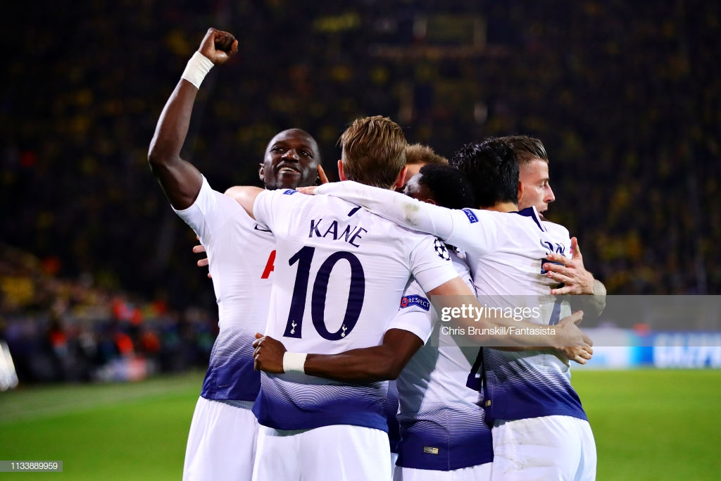 Borussia Dortmund (0) 0-1 (4) Tottenham Hotspur: Spurs advance to quarter-finals with comfortable aggregate victory