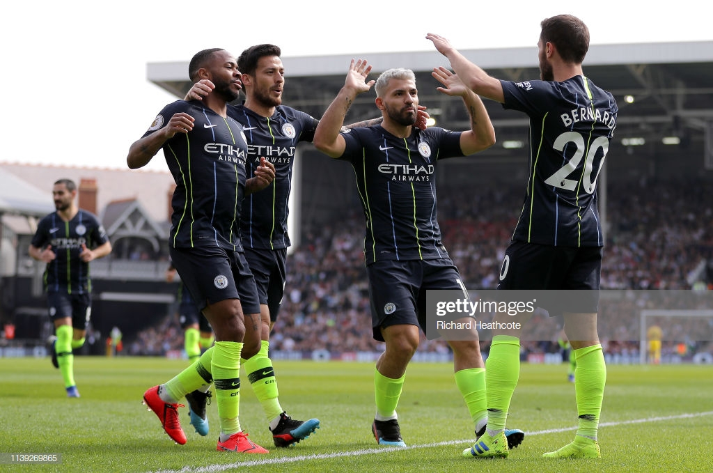 Man City go top of the table after easy win at Fulham