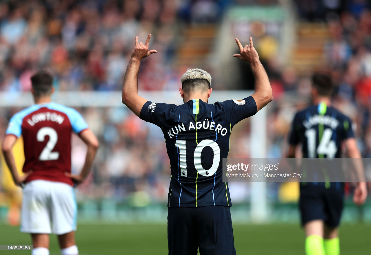 Burnley 0-1 Man City: City go top as Aguero equalises Henry's record