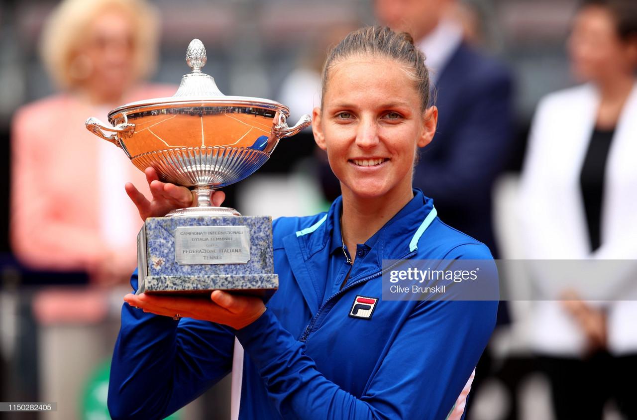 WTA Rome: Karolina Pliskova overcomes Johanna Konta to claim title