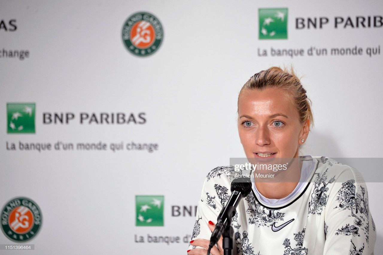 French Open: Petra Kvitova withdraws with forearm injury
