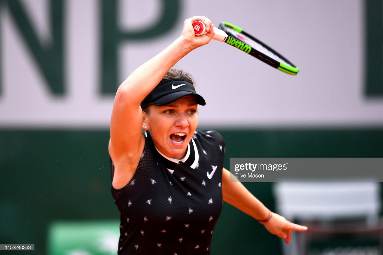 French Open: Simona Halep starts title defence with tough three-set victory