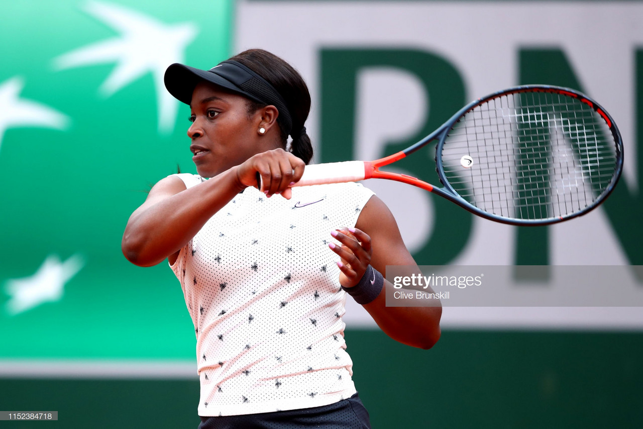 French Open: Sloane Stephens moves into Round Three